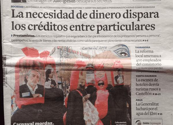 PrestamosHipotecarios.Net portada del Diario de Tarragona