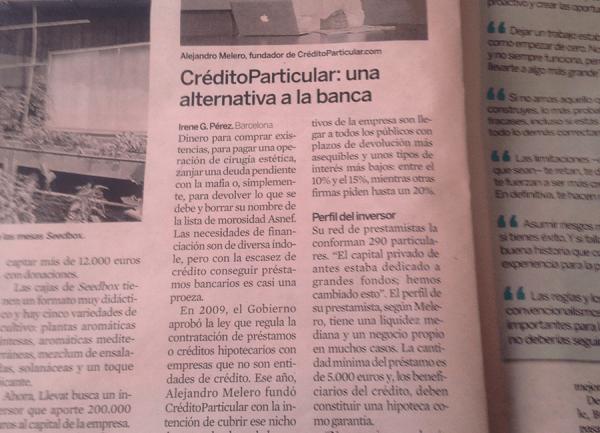 La alternativa a la Banca en el Diario Expansión